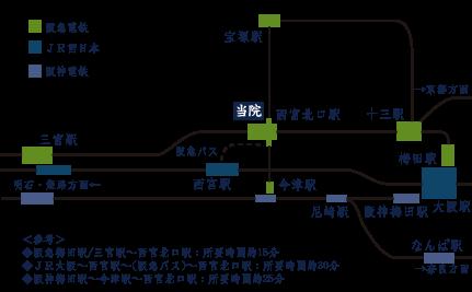 無何有(むかゆう)までの路線図